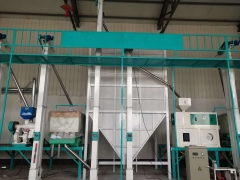 Vietnam 60 tons complete rice mill equipment installation site