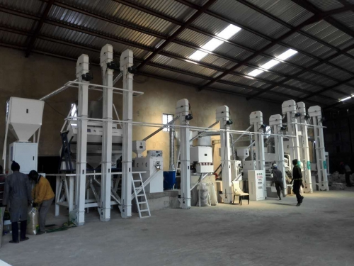 Installation case of 50 tons of complete rice processing equipment in Africa