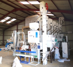 Installation case of 30 tons rice processing equipment in Africa
