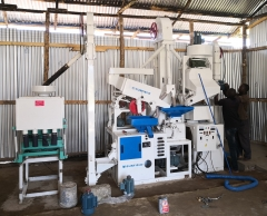 20 tons/day complete set of rice milling machine equipment installation and debugging in South Africa