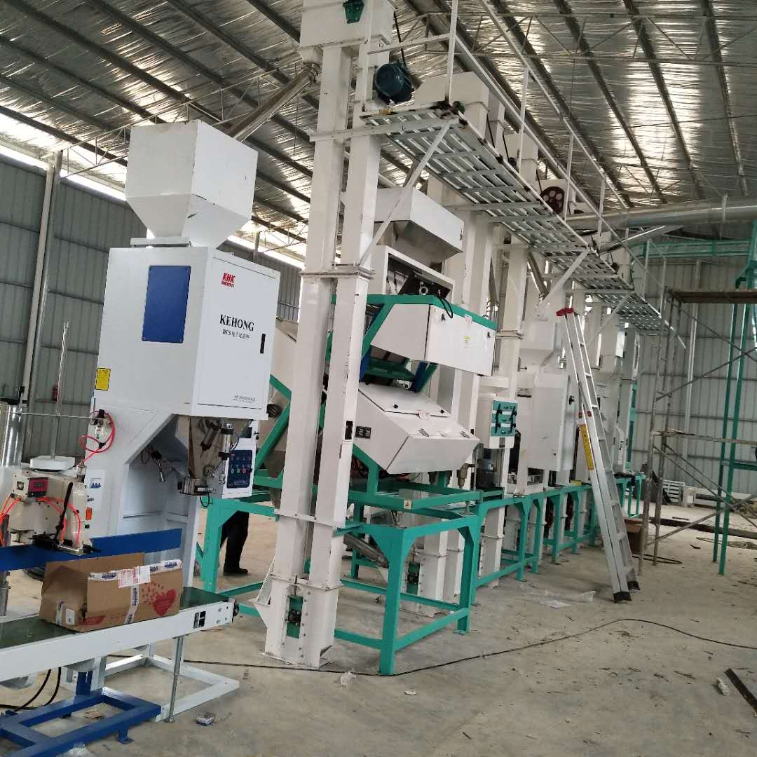 Guangxi 30 tons/day rice milling machine complete set of equipment installation and debugging site