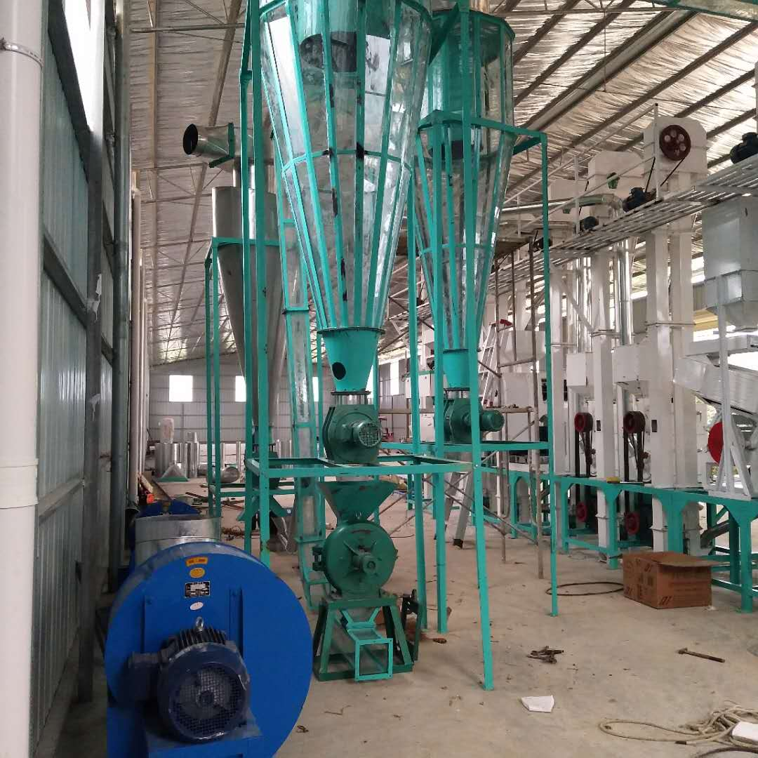 Guangxi 30 ton rice production line dust removal system