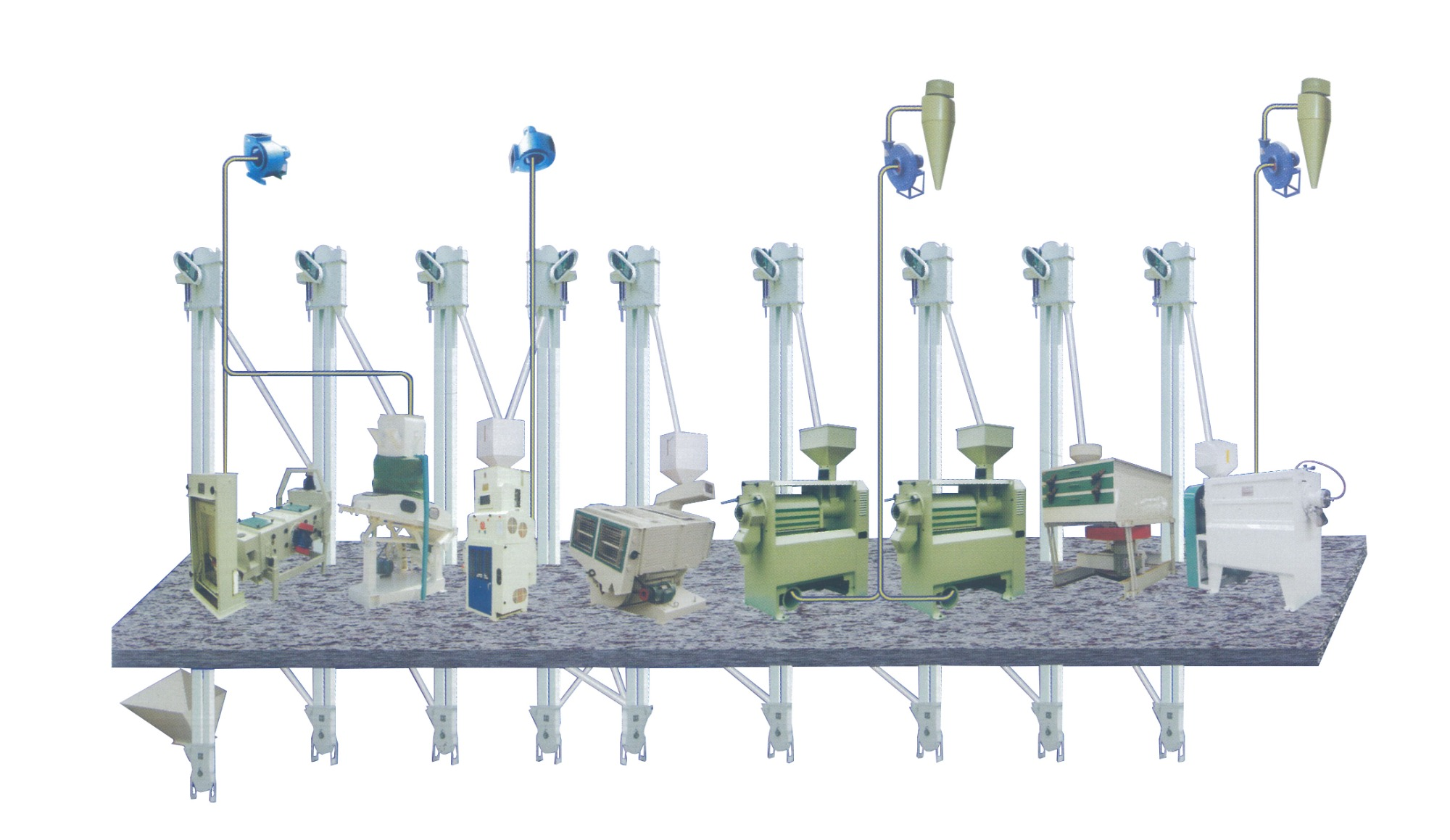 50-60t/d Complete Set Rice Milling Equipment Basic Configuration picture
